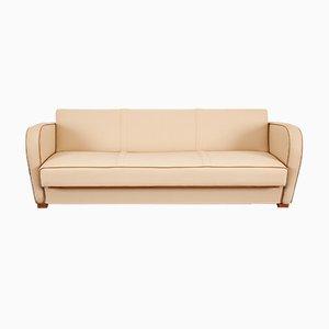 Beige Vegan Leather H-363 Sofa Bed by Jindřich Halabala for UP Závody
