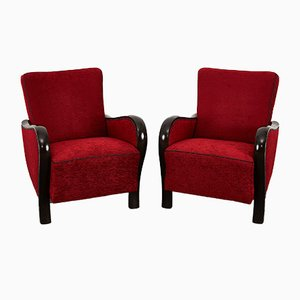 Hungarian Art Deco Club Armchair from Rumba, 1930s-40s, Set of 2