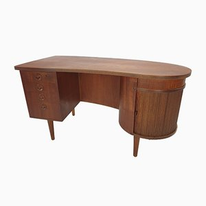 Mid-Century Danish Teak Desk by Kai Kristiansen for Feldballes Møbelfabrik, 1950s