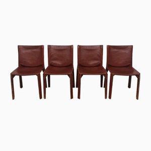 CAB Stühle von Mario Bellini für Cassina, 1970er, 4er Set