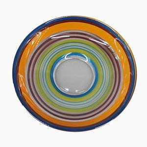 Hand-Painted Glass Bowl by Ulrica Hydman-Vallien for Kosta Boda, Sweden, 1970s