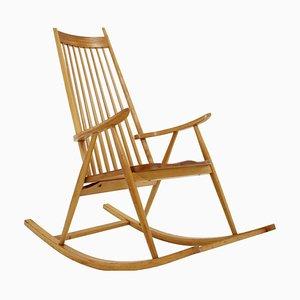 Wooden Rocking Chair, Czechoslovakia, 1960s