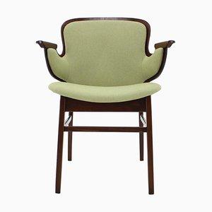 Beech Shell Chair by Hans Olsen for Bramin Mobler, Denmark, 1950s