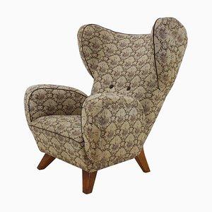 Large Wingback Chair, Czechoslovakia, 1950s