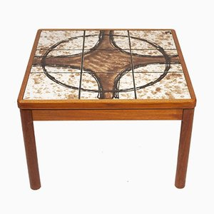 Tile Topped Square Coffee Table from Trioh, 1970s