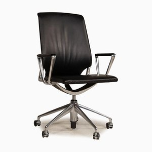 Black Leather Office Chair from Vitra