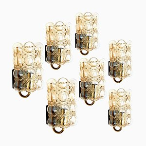 Large Glass Sconces by Helena Tynell for Glashütte, 1960s