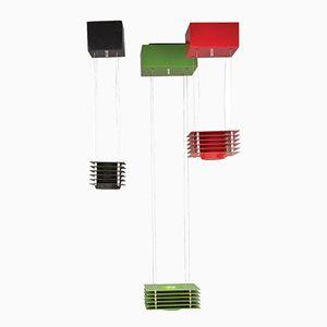 Italian Lampros 3 Pendant Lamps by Ettore Sottsass for Skipper, 1976, Set of 3