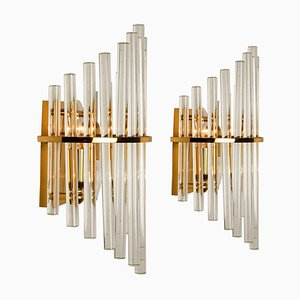 Glass Rod Wall Sconces by Sciolari for Lightolier