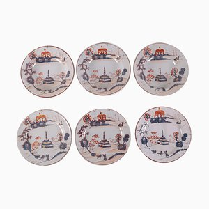 Majolica Ceramic Dishes, Set of 6