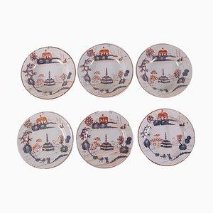 Piatti in ceramica in maiolica, set di 6