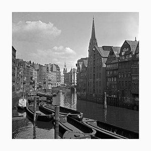 Canals Near St. Nicholas Church Hamburg Speicherstadt Germany 1938 Printed 2021