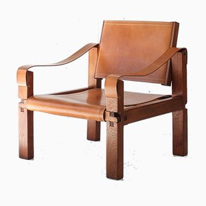Model S10 Sahara Chair by Pierre Chapo, 1960s, France