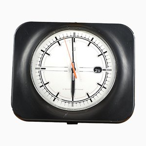 Black and Gray Plastic Clock from Philips, 2000s