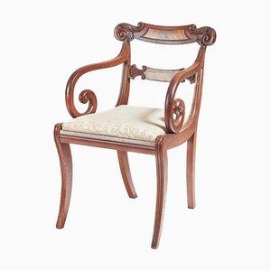 Regency Mahogany Elbow Desk Chair