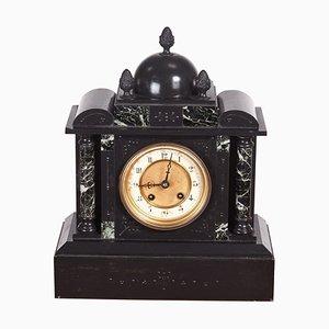 Antike viktorianische Acht-Tages-Kaminuhr aus Marmor