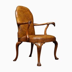 George I Armlehnstuhl aus Nussholz