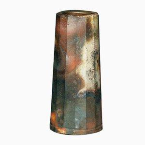 Chamfered Mentori Bizen Ware Vase, 1960s
