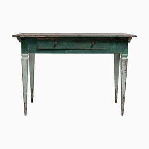 18th Century Gustavian Swedish Green Pine Desk