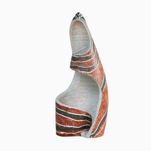 Lampada scultorea di Poterie d'Accolay, anni '50