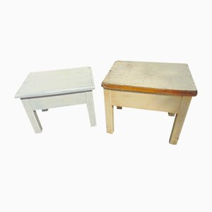 Openable Art Deco Stool in Wood
