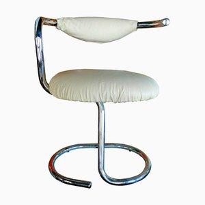 Weißer Cobra Spiral Chair von Giotto Stoppino, 1970er