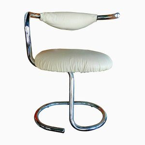 White Cobra Spiral Chair by Giotto Stoppino, 1970s
