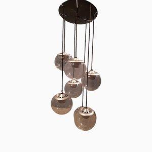 Gray 2095/7 Chandelier by Gino Sarfatti for Arteluce, 1960s
