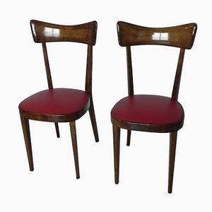 Chaises Style Ico Parisi, 1960s, Set de 2