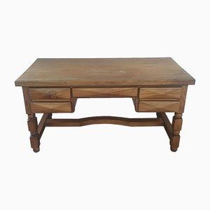 Brutalistischer Minister Schreibtisch aus Holz