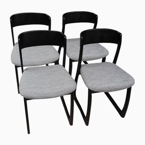 Sled Chairs in the Style of Baumann, 1970s, Set of 4