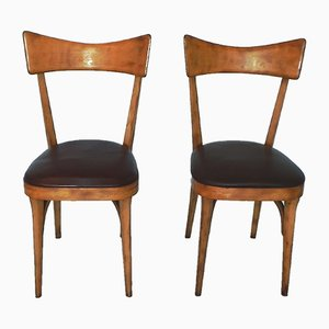 Chairs in the Style of Ico Parisi, 1960s, Set of 2