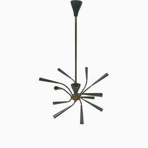 Sputnik Chandelier with 12 Lights by Oscar Torlasco for Lumi Milano, 1960s