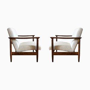 Beige GFM-142 Sessel von Edmund Homa für Gościcińskie Fabryki Mebli, 1960er, 2er Set