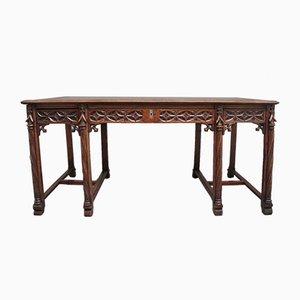 19th Century French Gothic Style Oak Desk