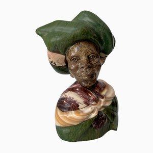 African Xhosa Green Tribal Bust