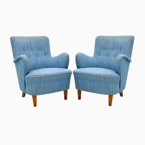 Vintage Swedish Armchairs by Carl Malmsten, Set of 2