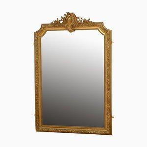 Specchio da parete in legno dorato, XIX secolo