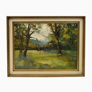 Mark Randall, Training Jockeys, Oil Painting