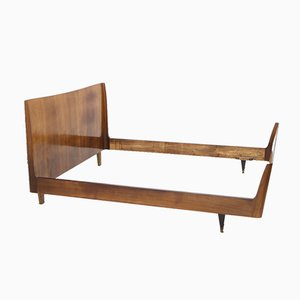 Double Bed Frame in Wood, 1950s