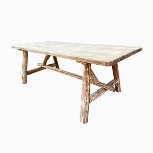 Large French Driftwood & Oak Dining Table