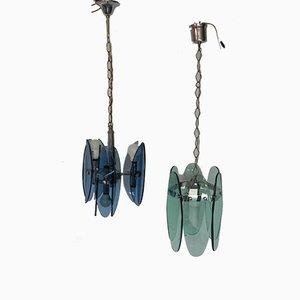 Chandeliers from Veca, 1950s, Set of 2