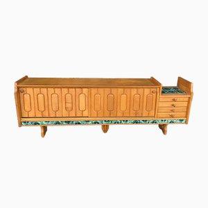 Sideboard aus Holz & Keramik von Guillerme und Chambron, 1960er