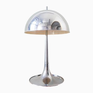 Vintage Chrome Mushroom Table Lamp by Goffredo Reggiani, 1960s