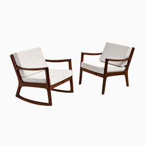 Senator Rocking Chair and Easy Chair by Ole Wanscher for Cado, Set of 2