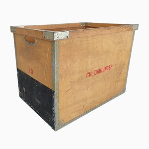 Large Wooden Industrial Crate by C.H. Dahlinger