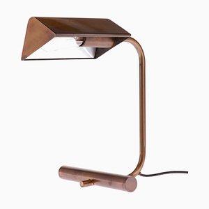 Lámpara de mesa o escritorio alemana de latón bruñido, años 60