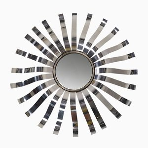 Stainless Steel Sun Mirror from Roche Bobois, 1970s