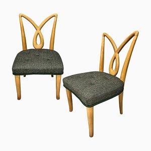 Mid-Century Italian Hall Chairs, Set of 2