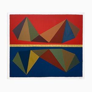 Sol Lewitt, Counterpoint, 1986, Serigraph at 28 Color Beats